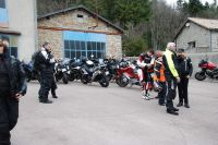 Rencontre Chevaliers De La Route 2018. balade moto, arrêt au Relais Motards Le Colombier - photo JMarc Verguin