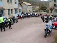 Rencontre nationale CDLR 2018. Balade moto, pause café au Relais Motards Le Colombier. Photo Christophe Vincentz